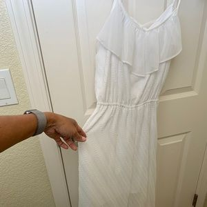 Double layer a White Summer Dress